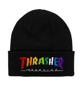 Thrasher Mag. Rainbow Mag Beanie Black