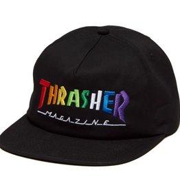 Thrasher Mag. Rainbow Mag Snapback Black