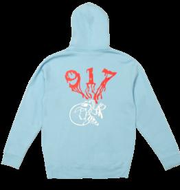 Call Me 917 Skull Hoodie Blue