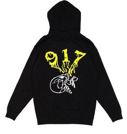 Call Me 917 Skull Hoodie Black