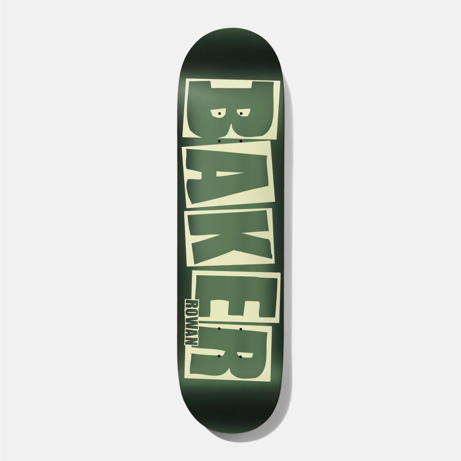 """Baker Skateboards RZ Brand Logo Green Foil B2 8.0"""""""