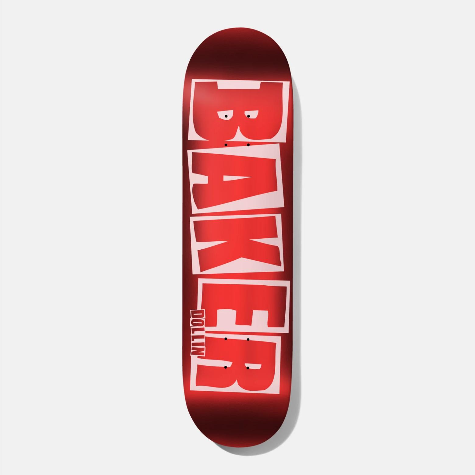 """Baker Skateboards DD Brand Logo Red Foil B2 8.25"""""""
