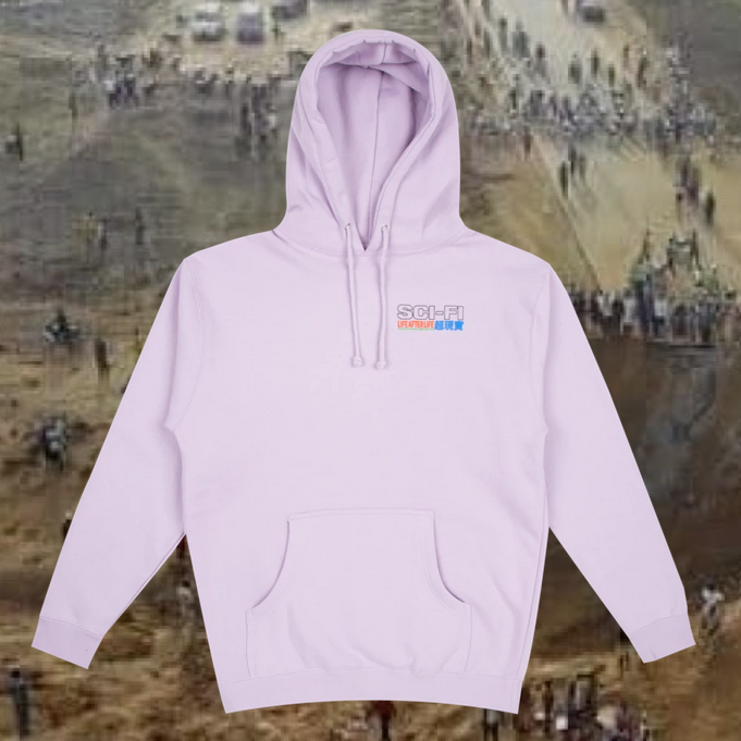 Sci-Fi Fantasy Life After Life Hoodie Lavender