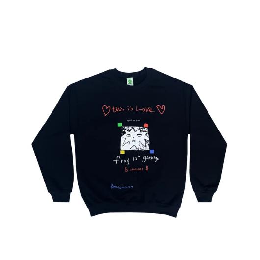Frog Skateboards Frog Is Garbage Sweater Black