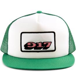 Call Me 917 Sprinkle Green/White Trucker Hat