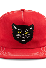 Call Me 917 Black Cat Red Trucker Hat