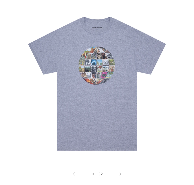 Fucking Awesome Univision Tee Sport Grey