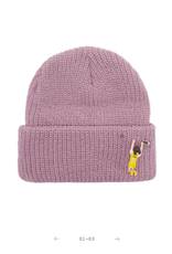 Fucking Awesome Hanging Girl Beanie Pale Rose