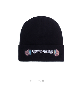 Fucking Awesome World Cup Beanie Black
