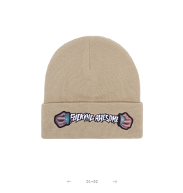 Fucking Awesome World Cup Beanie Sand