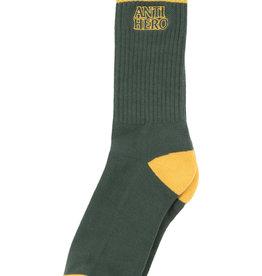 Anti Hero Blackhero Outline Sock Green/Yellow