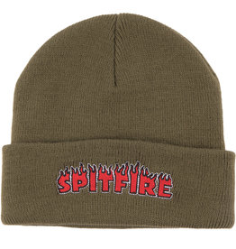 Spitfire Wheels Flash Fire Olive/Red Beanie