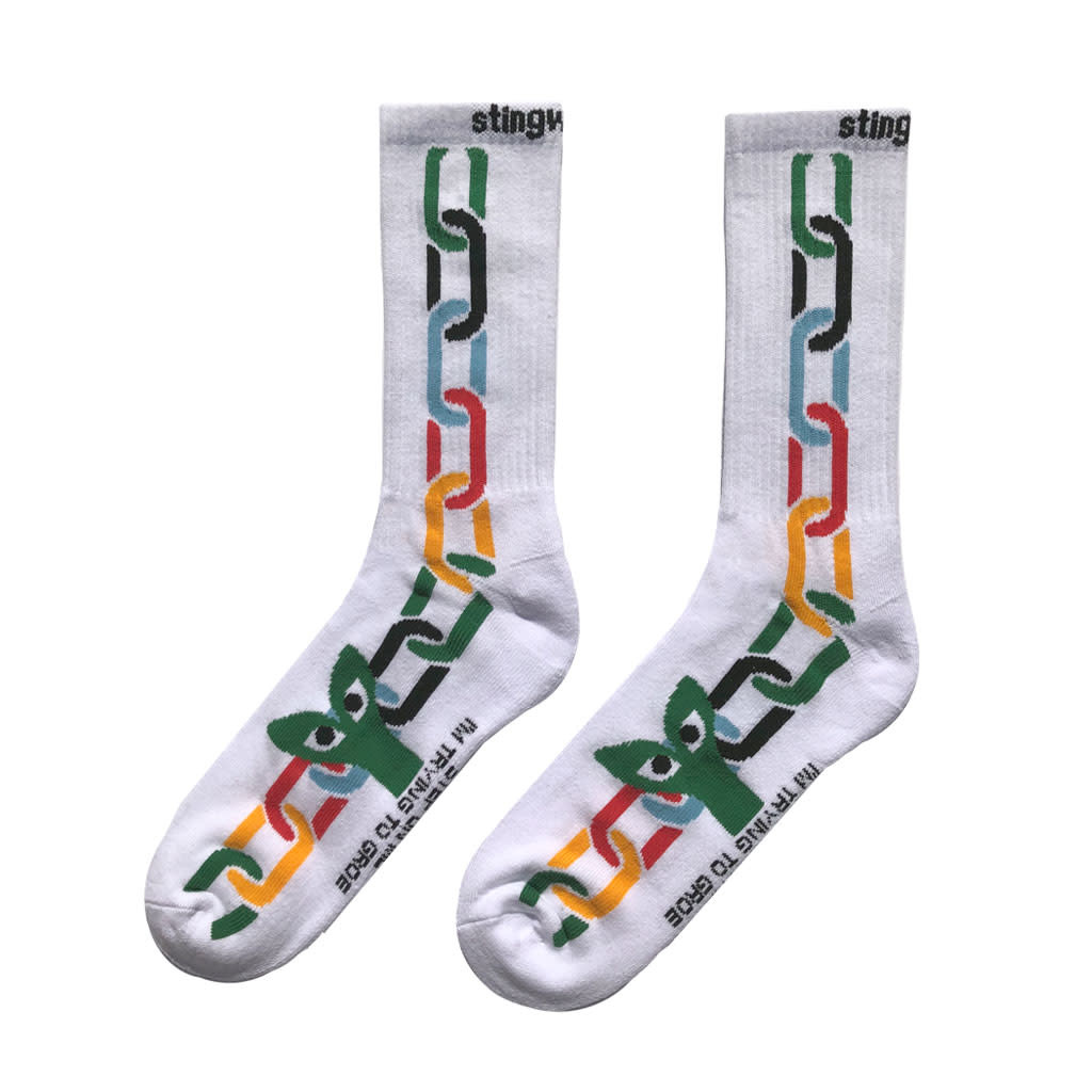 Stingwater Aapi In Chains Sock White/Multi