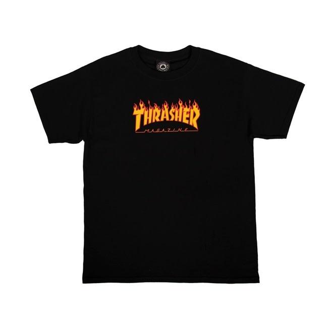 Thrasher Mag. Youth Flame Logo Black