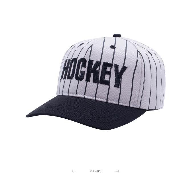Hockey Hockey Striped Snapback Grey/Black