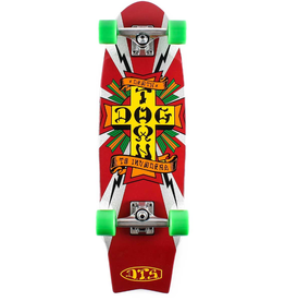 """Dogtown Death to Invaders Mini 8.5"""" Complete Silver"""