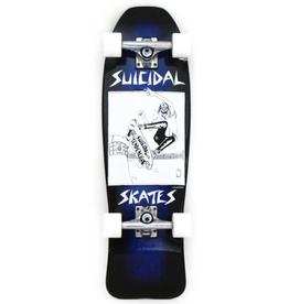 "Pool Skater Mini Cruiser 8.75"" Complete Blue Stain/Black Fade"