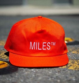 Miles Griptape Miles Logo Hat Safety Orange