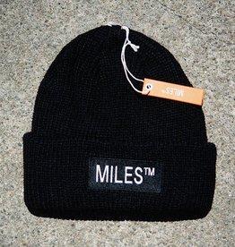 Miles Griptape Miles Logo Beanie Black