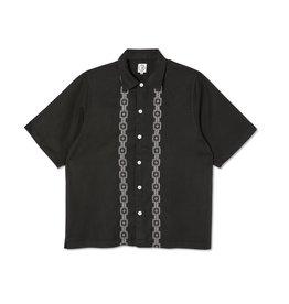 Polar Skate Co. Square Stripe Bowling Shirt Black