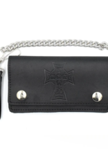 Dogtown Dogtown Vintage Cross Large Leather Chain Wallet