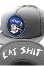 Eat Shit Patch Flip Mesh Hat Charcoal