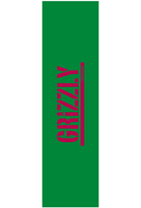 Grizzly Griptape Stamped Necessities Griptape Green/Red