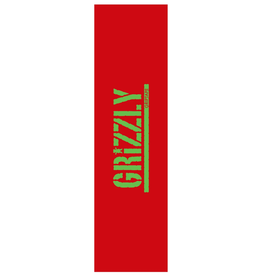 Grizzly Griptape Stamped Necessities Griptape Red/Green