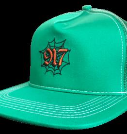 Call Me 917 Web Trucker Hat Green