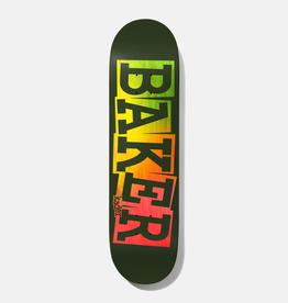 "Baker Skateboards KS Ribbon Green Rainbow 8.125"""