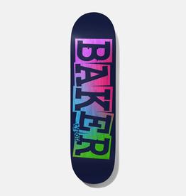 "Baker Skateboards TP Ribbon Navy Rainbow 8.25"""