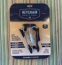 Sk8ology Click Carabiner Keychain Tool Black