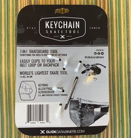 Sk8ology Click Carabiner Keychain Tool Silver