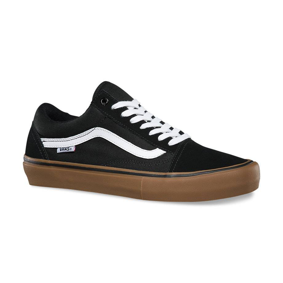 Vans Shoes Old Skool Pro Blk/Gum/Wht