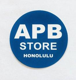 APB Skateshop APB Store Sticker