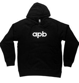 APB Skateshop APB Logo Hooded Sweatshirt Black w/ White