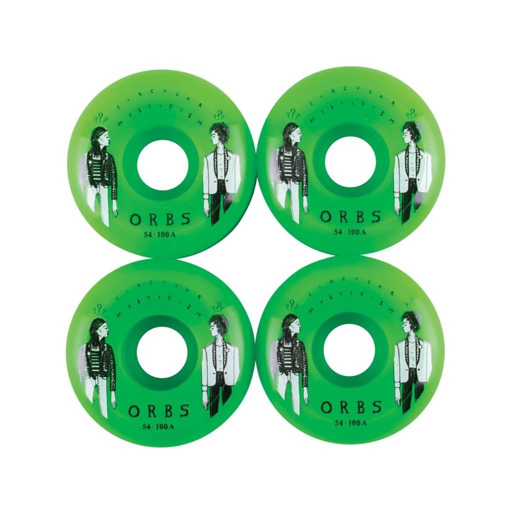 Welcome Skateboards Orbs Fantasmas Neon Green 54mm