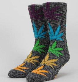HUF Melange Plantlife Sock Black Multi