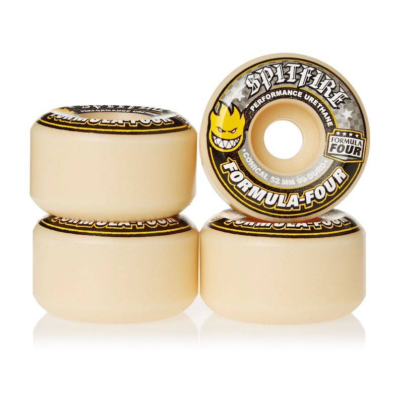 Spitfire Wheels Spitfire F4 99d Conical Yellow Print