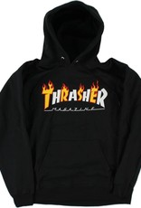 Thrasher Mag. Flame Mag Hood Black