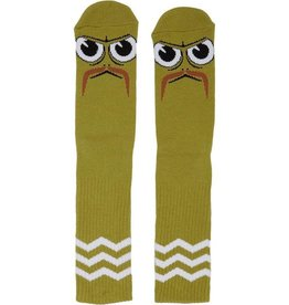 Toy Machine Turtleboy Stache Lime Sock
