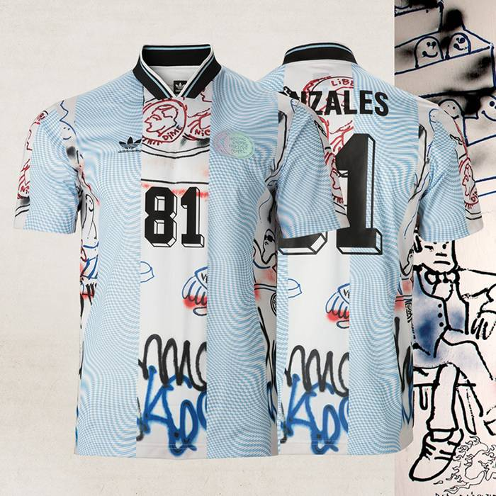 Adidas Gonzales Jersey White/Light Blue