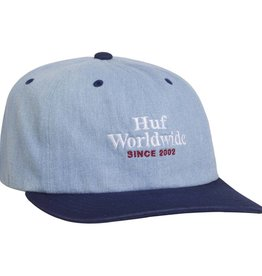 HUF Worldwide Denim 6 Panel Blue