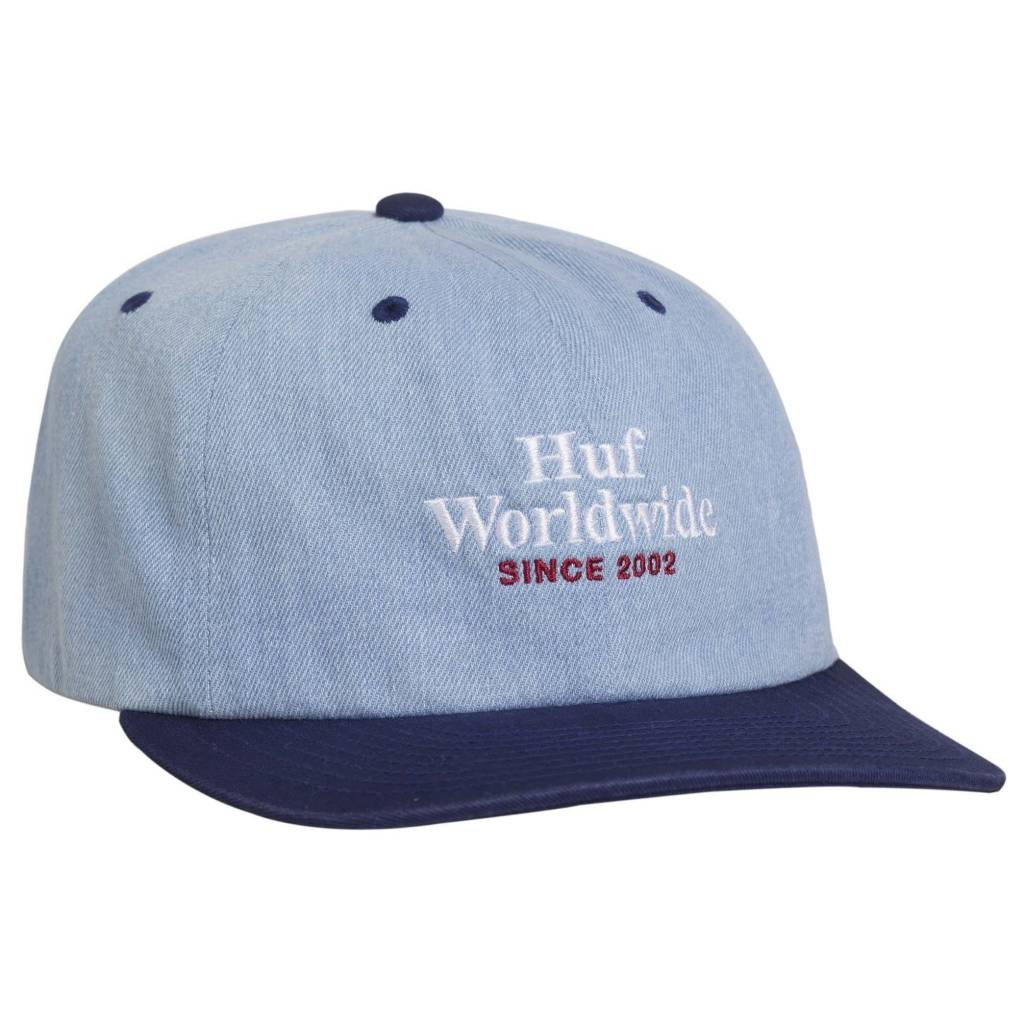 HUF Worldwide Denim 6 Panel Blue