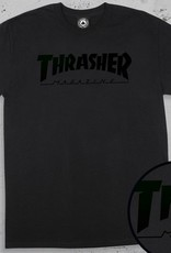 Thrasher Mag. Magazine Logo Black/Black