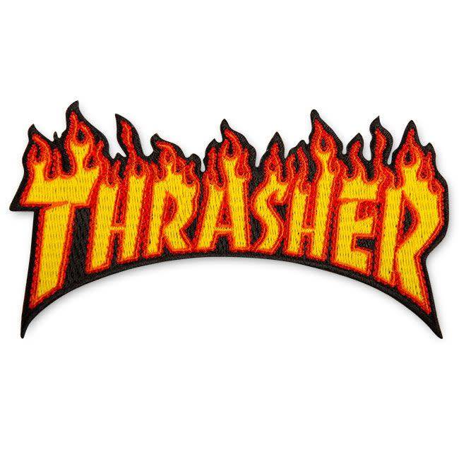 Thrasher Mag. Flame Patch