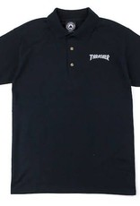 Thrasher Mag. Logo Embroidered Polo Black
