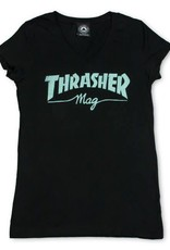 Thrasher Mag. Mag Logo Black V-Neck