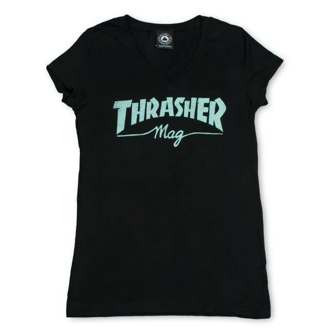 Thrasher Mag. Mag Logo V-Neck
