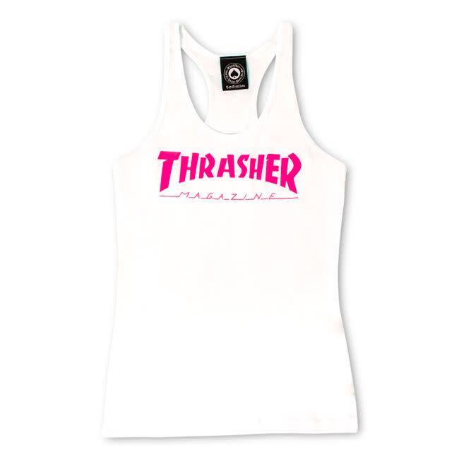 Thrasher Mag. Mag Logo Racerback White Tank